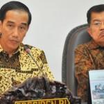 Presiden Joko Widodo dan Wapres Jusuf Kalla pimpin rapat kabinet (ANTARA FOTO/Yudhi Mahatma)