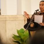 Presiden Joko Widodo (Jokowi) memberikan sambutan saat Peringatan Hari HAM se-dunia 2015 Sumber : news.liputan6.com