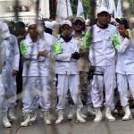 Ilustrasi. Ribuan orang dari FPI dan ormas islam lainnya melakukan aksi protes. (Foto: tirto.id/Andrey Gromico.)