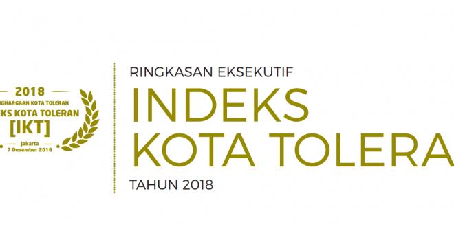 INDEKS KOTA TOLERAN TAHUN 2018