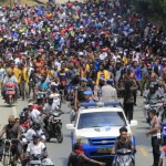 People participate in a protest march in Jayapura, Papua, on Monday. (Photo: Antara Photo/Gusti Tanati)