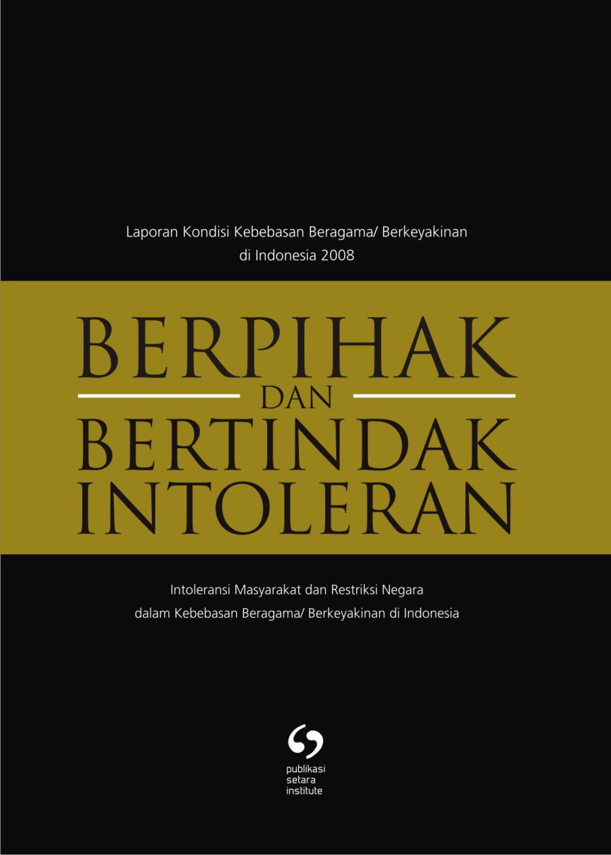 LAPORAN KONDISI KEBEBASAN BERAGAMA/BERKEYAKINAN TAHUN 2008