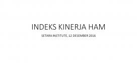Indeks Kinerja HAM 2016