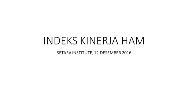 (Bahasa Indonesia) Indeks Kinerja HAM 2016