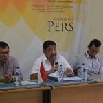 Ketua SETARA Institute Hendardi memberikan pendapat dalam acara Konferensi Press SETARA Institute Tentang Percepatan Pengesahan RUU Antiterorisme di SETARA Institute, Jakarta (10/07/2017). Foto: (SETARA Institute)