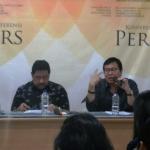 SETARA Institute memaparkan laporan kondisi kebebasan beragama/berkeyakinan selama tahun 2017 saat konferensi pers di Jakarta, Senin (15/1/2018). (Foto: SETARA Institute)