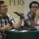 Dari kiri ke kanan Wakil Ketua SETARA Institute Bonar Tigor Naipospos, Direktur Eksekutif SETARA Institute Ismail Hasani, Direktur Riset SETARA Institute Halili, saat menyelenggarakan konferensi pers tentang laporan kondisi kebebasan beragama/berkeyakinan tahun 2018, di Jakarta, Minggu (31/3/2019). (Foto: SETARA Institute)