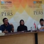 """SETARA Institute menggelar Konferensi Pers mengenai """"PERKEMBANGAN TERAKHIR PENOLAKAN IBADAH DAN PERAYAAN NATAL BERSAMA-SAMA"""" pada Sabtu (21/12/2019) di Jakarta. Foto: SETARA Institute."""