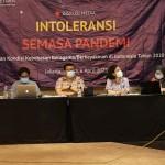 Konferensi Pers Laporan Kondisi Kebebasan Beragama/Berkeyakinan di Indonesia Tahun 2020. (Foto: SETARA Institute)