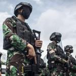 Ilustrasi prajurit TNI. (ANTARA FOTO/Aprillio Akbar/CNN Indonesia)